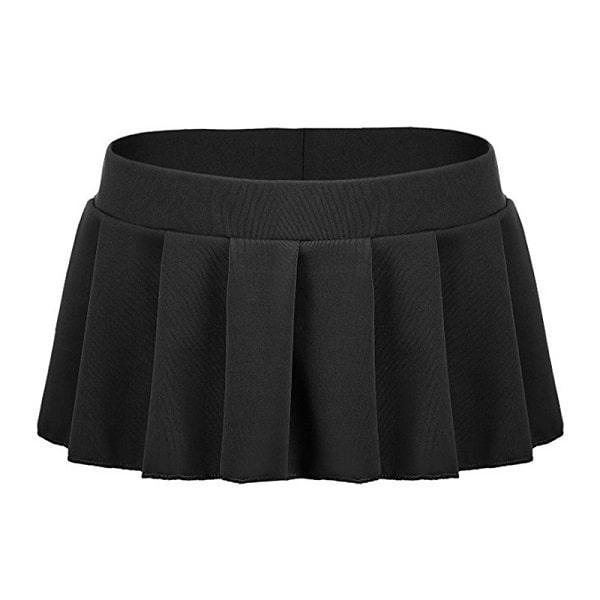 black ultra short mini mini skirt